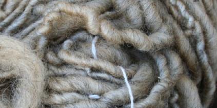 Shetland yarn, buttery warm and handspun.