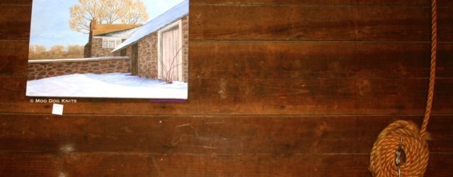 Barn wall and barn painting. Photo © Moo Dog Knits
